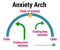 Seeing your child struggle with anxiety is really hard for parents. If you're used to rescuing your children at the peak of anxiety, they are missing out on the other side of the arch! (The side that leads back to calm!) Help your anxious child manage big feelings by explaining the anxiety arch.