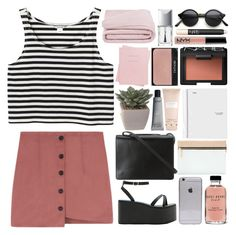 """""""130. """"don't you dare look back, keep your eyes on me"""""""" by bella-ella-ella ❤ liked on Polyvore featuring Monki, BCBGMAXAZRIA, Jeffrey Campbell, Bobbi Brown Cosmetics, NARS Cosmetics, Victoria Beckham, Carven, Christian Dior, Shinola and Frette"""