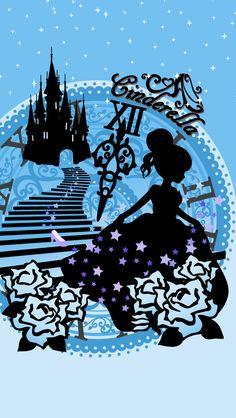 Disney Girls, Disney Love, Disney Princess, Cinderella Wallpaper, Disney Silhouettes, Cute Wallpapers, Fairy Tales, Snow White, Disney Characters
