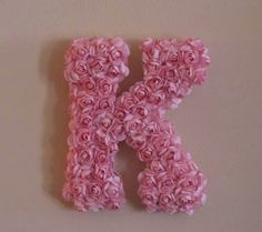 In a vintage white...    Small Flower Covered Initial Letter 55 Inch  10 by SimpleSumptuous, $20.00