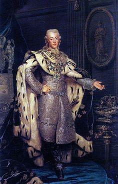 history-of-fashion: 1777 Alexander Roslin - Portrait of Gustavus III of Sweden
