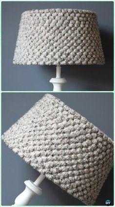 Crochet Honeycomb Stitch Lampshade Free Pattern - Crochet Lamp Shade Free Patterns