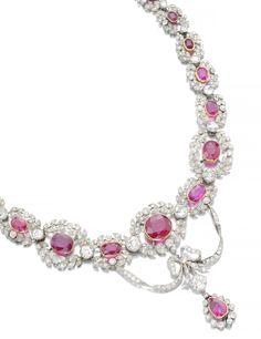 Types Of Diamonds, Colored Diamonds, Art Deco Jewelry, Jewelry Design, Ruby And Diamond Necklace, Ruby Necklace, Necklace Set, Earrings, Pandora Jewelry