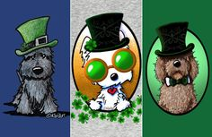 St. Patrick's Day Pups by KiniArt | Indie Minded