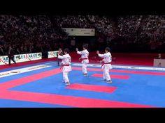 (1/2) Karate Japan vs Italy. Final Male Team Kata (Kata Unsu) + Bunkai (interpretation/application). WKF World Karate Federation 2012.  *Jaw drops*