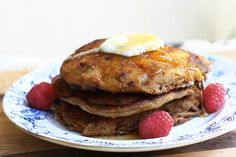 Whole wheat raspberry pancake
