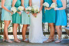 Blue Bridesmaid Dresses - www.sparkcreativeblog.com