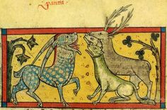 Medieval Bestiary : Panther Gallery The multi-colored panther attracts other beasts with its sweet breath.