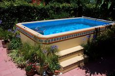 Terrific Original Endless Pools®, Patio Pool Rustic Aboveground Swimming Pools  Small Swimming Pool In Garden | Home Design