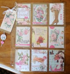 AnnMarie's Stamping Adventures!! Scrapbook Paper Flowers, Scrapbook Paper Crafts, Scrapbook Supplies, Scrapbook Pages, Paper Pocket, Pocket Cards, Pocket Pal, Artist Card, Scrapbook Layout Sketches