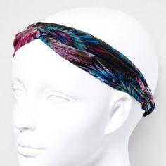 Peacock Turban Headwrap claire's