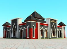 Mosque Architecture, Architecture Plan, House Front Design, Small House Plans, Decoration, Mansions, House Styles, Building, Dan