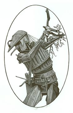 """""""The Tin Woodsman"""" illustrated by Barry Moser from the Wonderful Wizard of Oz   R. Michelson Galleries"""