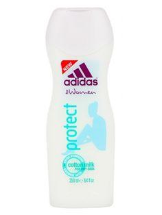 Żel pod prysznic ADIDAS Protect intensywnie nawilżający szczególnie polecany w przypadku skóry suchej. Formuła wzbogacona została mleczkiem bawełnianym, dzięki czemu pozostawia skórę miękką w dotyku i elastyczną. Jego zapach długo się utrzymuje, jest też wydajny i dobrze się pieni.