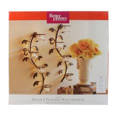 Better Homes and Gardens Vine and Leaf Tealight Wall Sconces, Set of 2 (got these for the side of my clock )