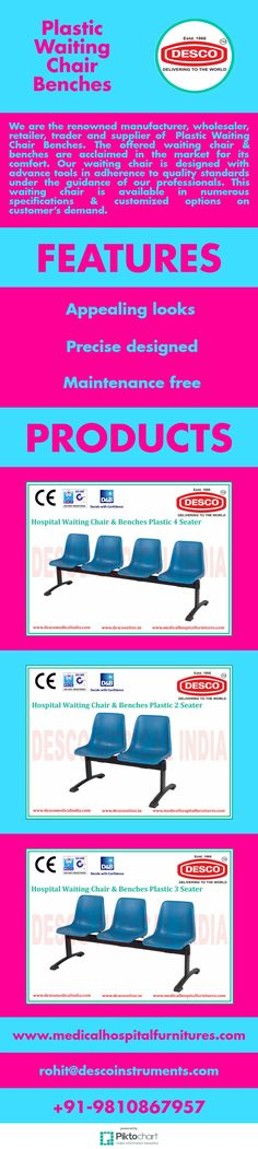 We are the renowned manufacturer, wholesaler, retailer, trader and supplier of  Plastic Waiting Chair Benches.