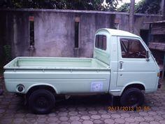 Suzuki 1980 Hijau Muda (D) Originale Suzuki Carry, Pickup Trucks, Scale, Van, Vehicles, Weighing Scale, Car, Libra, Vans