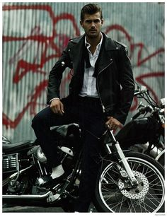 Jacey Elthalion is Biker Chic in Leather Jackets for GQ China