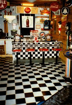Coca Cola - Doug's Diner I want this floor in my kitchen one day.