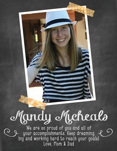 Items similar to Yearbook Ad, Graduation Ad, Yearbook Dedication, Class of 2015 on Etsy Senior Yearbook Ads, Yearbook Pages, Yearbook Quotes, Yearbook Layouts, Yearbook Ideas, Book Dedication, Dance Photos, Creative Photos, Ad Design