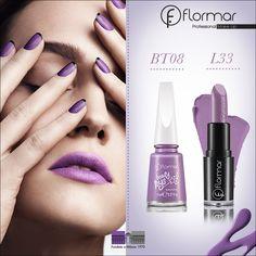 El esmalte de hoy es púrpura, ¿qué tal si lo combinamos con un labial del mismo color? ¡Se verá hermoso!