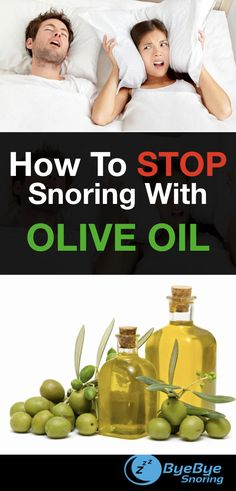 Did you know you can use Olive Oil for snoring? This is one of the amazing remedies you'll find on ByeByeSnoring.  See Remedy #2.  Try this #homeremedyforsnoring and let us know how it works for you!
