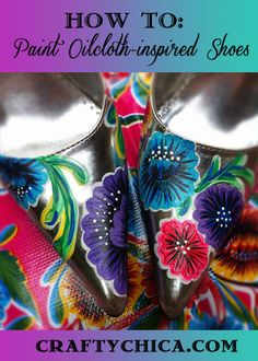 iLoveToCreate Blog: CRAFTY CHICA: How to Paint Oilcloth Flowers on Fabric