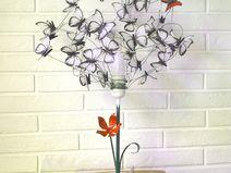 """Lámpara de mesa pintada con mariposas """"La Única"""" #MiTiendaNube"""