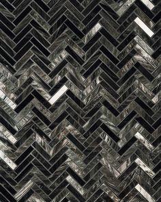 TREND ALERT: MENSWEAR    Obsidian tile by Ann Sacks; annsacks.com.
