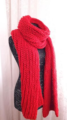 Chunky Knit Scarves, Oversized Scarf, Red Scarves, Blanket Scarf, Wool Scarf, Handmade Scarves, Unisex, Etsy, Peru Vacation