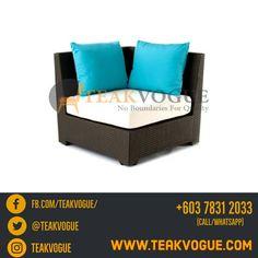 Modular Corner Seater, part of Aurora Sofa. Using Viro wicker, it perfectly woven in durable alloy 3003 aluminum frames. Rattan Sofa, Wicker Furniture, Cushions On Sofa, Garden Furniture, Furniture Design, Outdoor Furniture, Poolside Furniture, Outdoor Sofa Sets, Garden Sofa