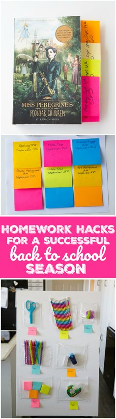Homework Hacks for a Successful Back to School Season - Try these simple tips to make homework less stressful and more productive using everyday products from @PostitCanada & @ScotchBrandCA! #sponsored
