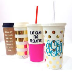 NEW kate spade new york tumblers and thermal mugs