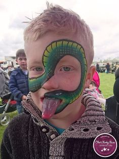 Snake Face Paint by Sophia - Snake Face Paint by Sophia - Snake Face Paint, Snake Painting, Body Painting, Face Painting For Boys, Face Painting Designs, Paint Designs, Cool Halloween Makeup, Halloween Face, Family Fun Day