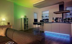 Oświetlenie salonu systemem Philips Hue