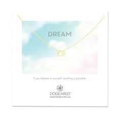 dreamy cloud necklace, gold dipped