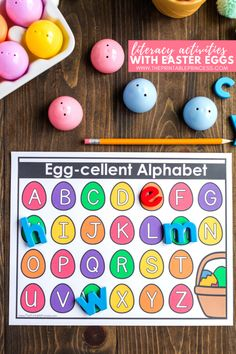 Easter Egg Literacy Activities for Kindergarten {Freebies Included!} Easter Egg Literacy Activities for Kindergarten {Freebies Included! Easter Activities For Preschool, Spring Activities, Alphabet Activities, Kindergarten Activities, Montessori Preschool, Learning Letters, Holiday Activities, Preschool Activities, Holiday Crafts