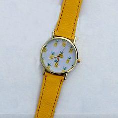 reloj de frutas tropicales piña, reloj de cuero de estilo vintage, relojes de las mujeres, reloj novio 4588762 2016 – €5,292.00