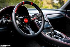 Flush Stanced Acura Honda NSX. Love that Steering Wheel tho !