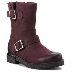 Botine EDEO - 3242-1003 Ciemny Bordo Biker, Metal, Boots, Fashion, Crotch Boots, Moda, Fashion Styles, Shoe Boot, Fasion