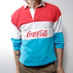 80s Coca Cola Rugby Shirt