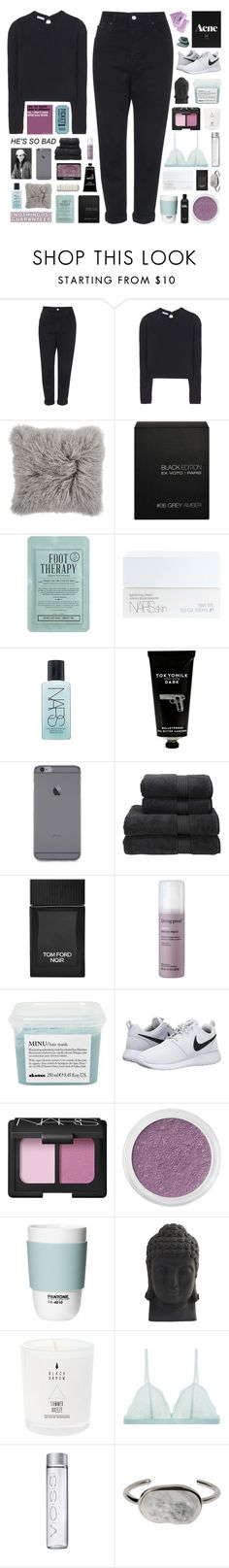 """COLLAB WITH ELENA ♡"" by other-flying ❤ liked on Polyvore featuring Topshop, Miu Miu, Ex Voto Paris, Kocostar, NARS Cosmetics, TokyoMilk, Christy, Tom Ford, Living Proof and Davines"