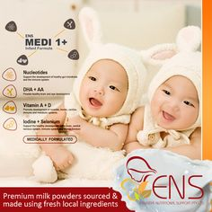 Our premium milk powders are sourced and made using fresh local ingredients and are blended with the knowledge and expertise of a 120 year old high-quality Australian dairy product manufacturer.   For more information visit our website at http://www.ens.global or contact our customer service for more information through email at info@ens.global.  #baby #babies #babymilk #milk #ens #ensmedi #infantformula