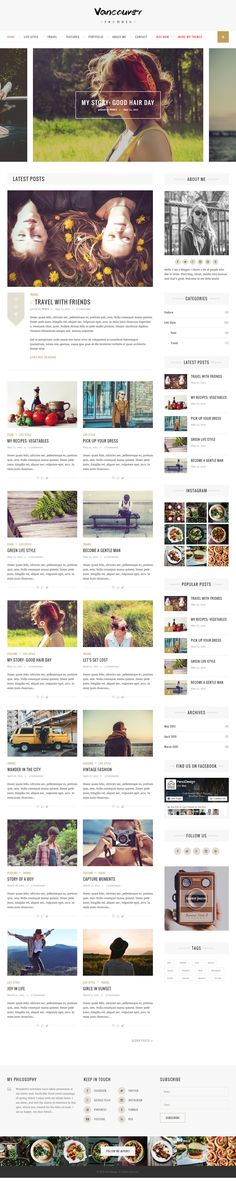 Vancouver is Premium full Responsive #WordPress #Blog Theme. #RetinaReady. SEO…