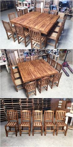 Finding something really simple in creativity in the dining furniture design? If so, then it's time to check out with this outstanding creation of the wood pallet dining furniture set for you. It is easy to do and is much designed in plain blending of variations. You would love it for sure!