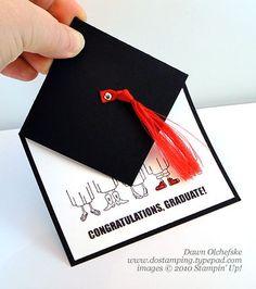 stampin up, dostamping, dawn olchefske, demonstrator, fun fold, graduation, grad hat, go graduate