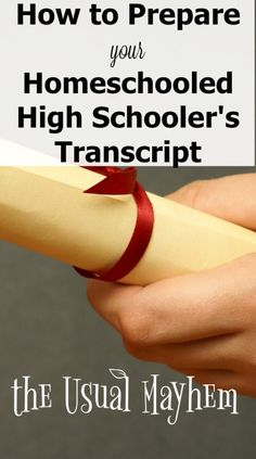 Looking for help preparing a high school transcript for your homeschooled student? Here's what you need to know.