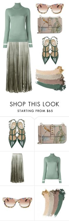 """""""Green tenderness"""" by subvilli ❤ liked on Polyvore featuring Valentino, Lanvin, Gucci, GREEN, valentino and polyvorefashion"""