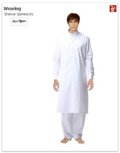 A male trying Eid Collections...