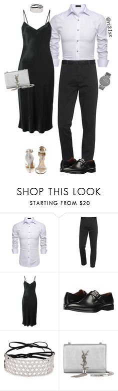 """""""Dinner Date"""" by ri31xx ❤ liked on Polyvore featuring Acne Studios, DKNY, Kenneth Cole, Fallon, Yves Saint Laurent, Skagen and Steve Madden"""
